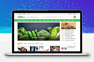 帝国CMS7.5仿薄荷健康绿色清新两性健康养生知识门户网站